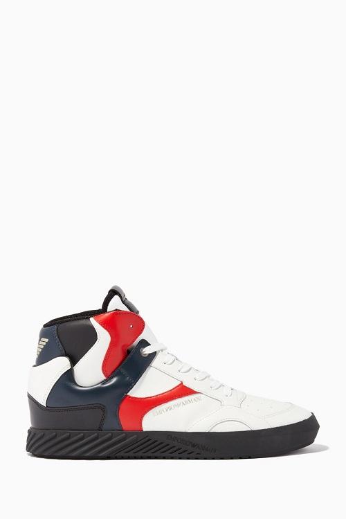 حذاء سنيكر متعدد الألوان لإطلالة لافتة من Emporio Armani