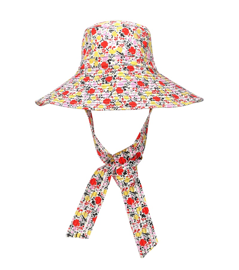 قبعة ملونة بشرائط ملونة من Ganni