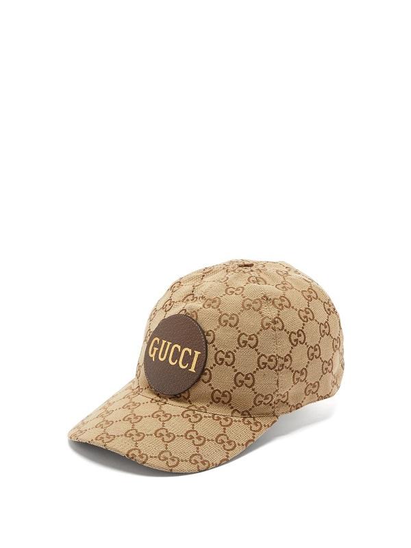 قبعة باللون البني بتصميم مميز من Gucci