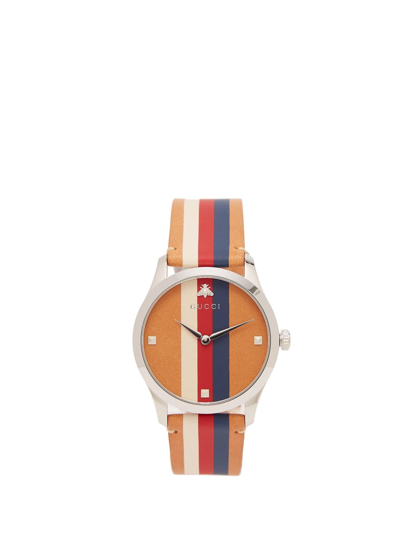 ساعة أنيقة وبتصميم مميز من Gucci