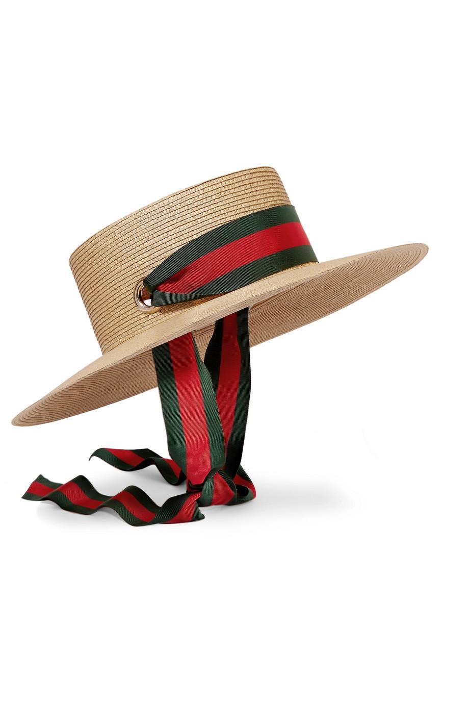 قبعة أنيقة بشرائط ملونة من Gucci