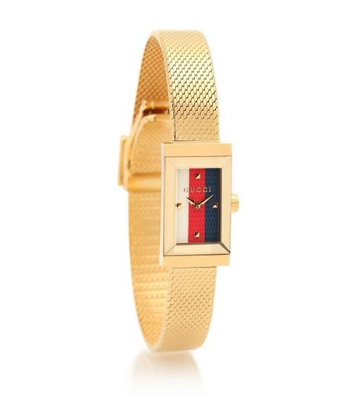 ساعة ذهبية بتصميم هندسي من Gucci
