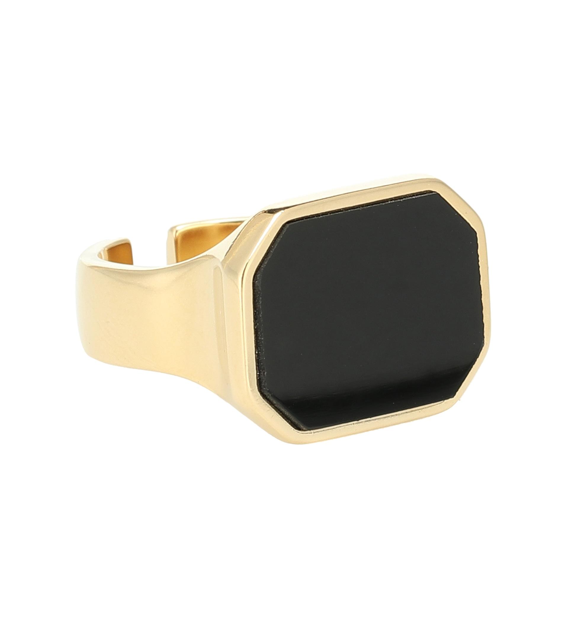خاتم بحجر أسود كبير من Isabel Marant
