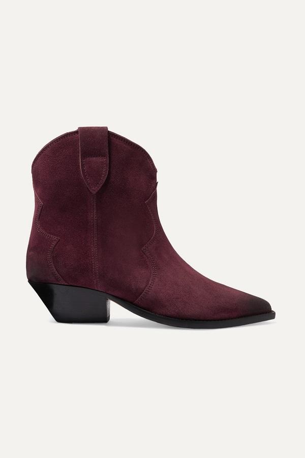 حذاء بوت قصير يناسب الإطلالة الكلاسيكية من Isabel Marant