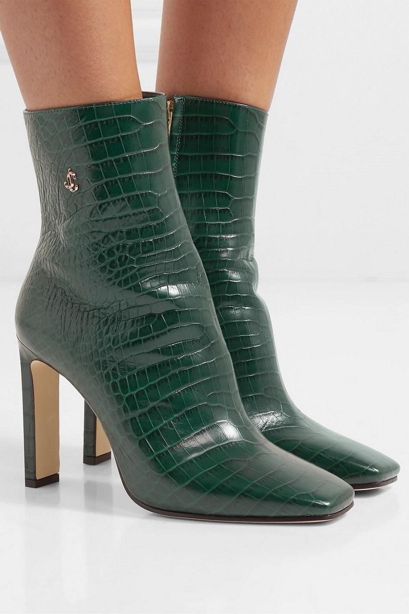 حذاء من الجلد الأخضر من Jimmy Choo