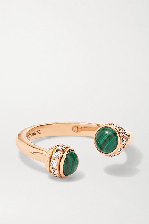 خاتم من الذهب مرصع بالزمرد من Piaget