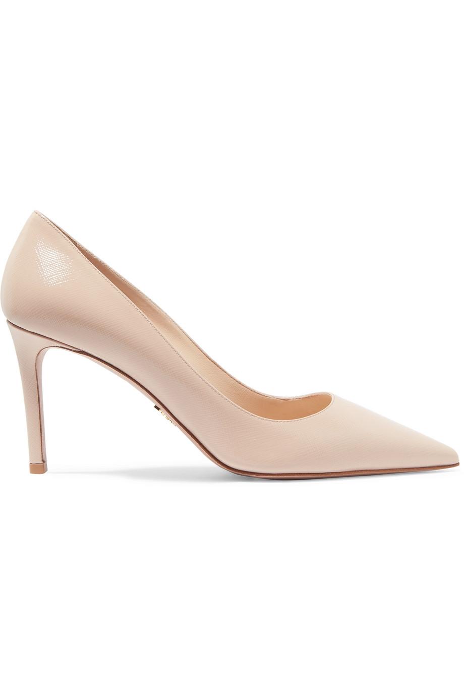 حذاء نيود بتصميم مميز من Prada