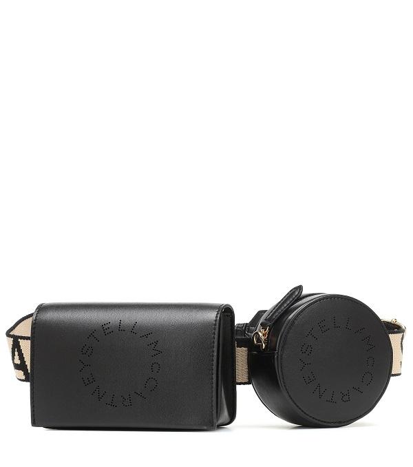 حقيبة خصر مزدوجة باللون الأسود Stella McCartney