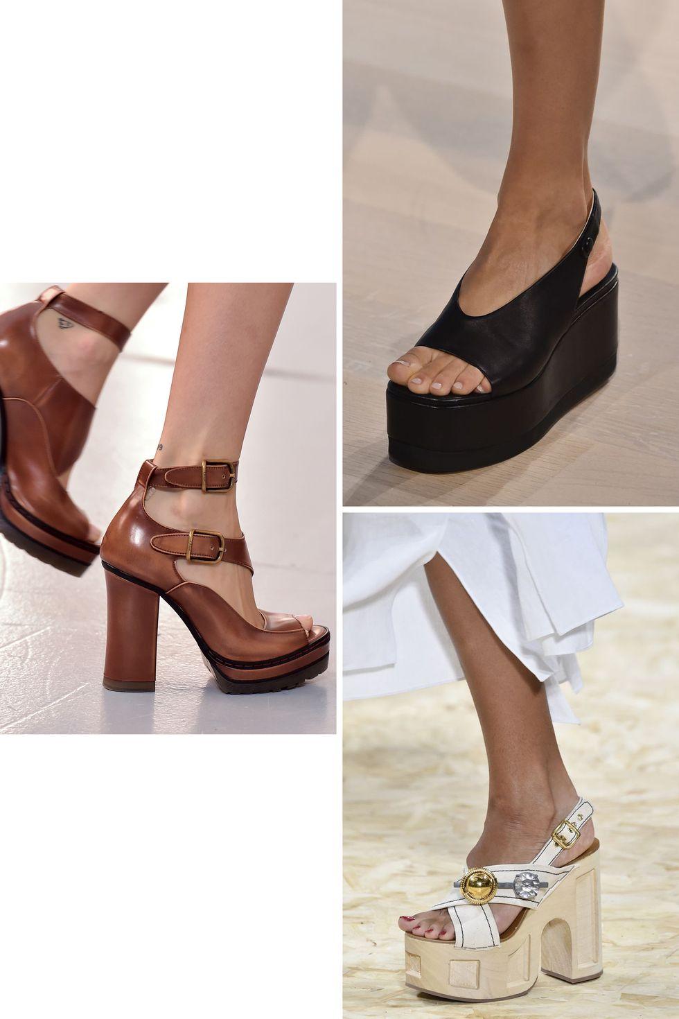 أحذية جلدية بالكعب العالي