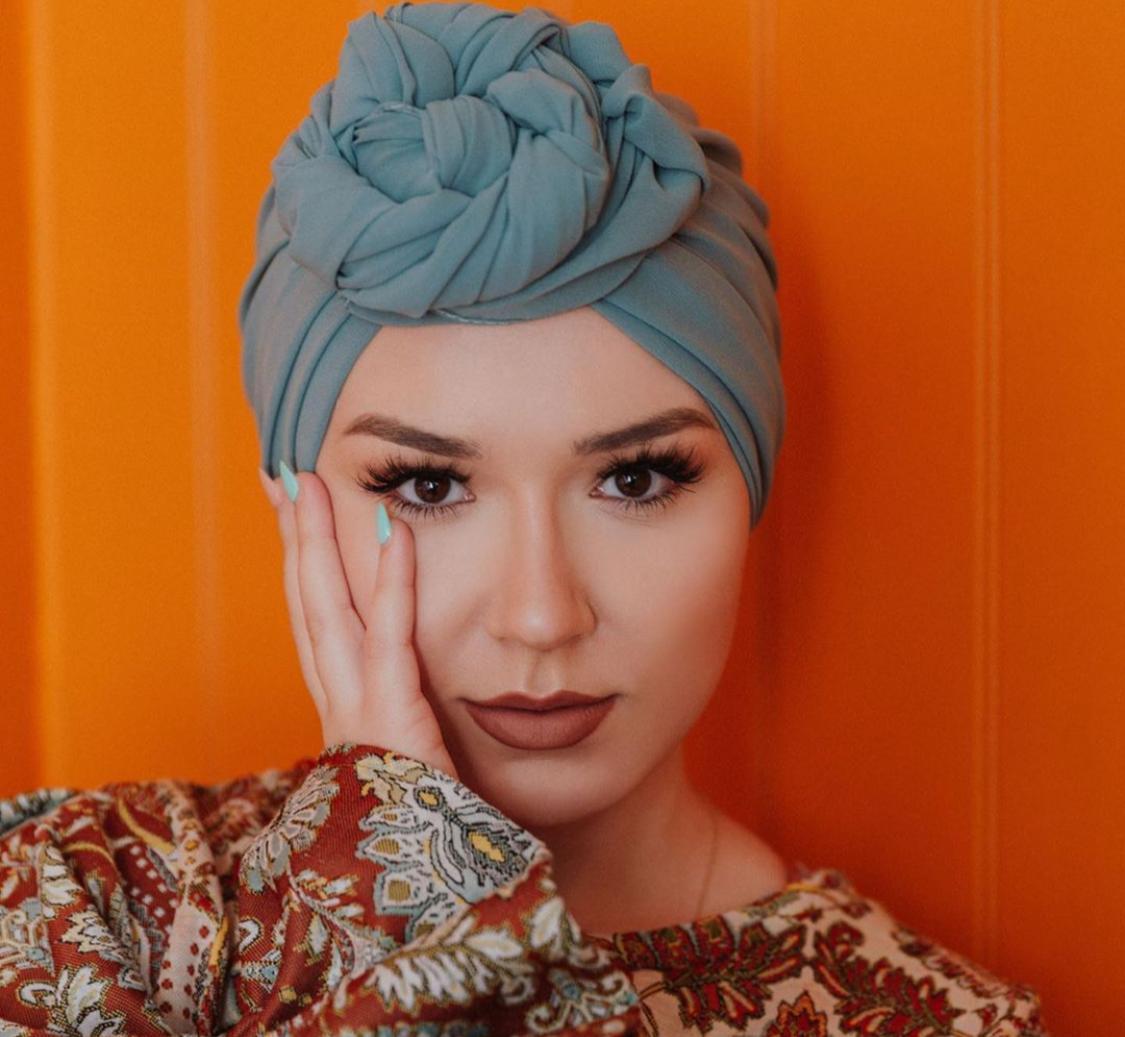 لفة حجاب صيفية للوجه الدائري
