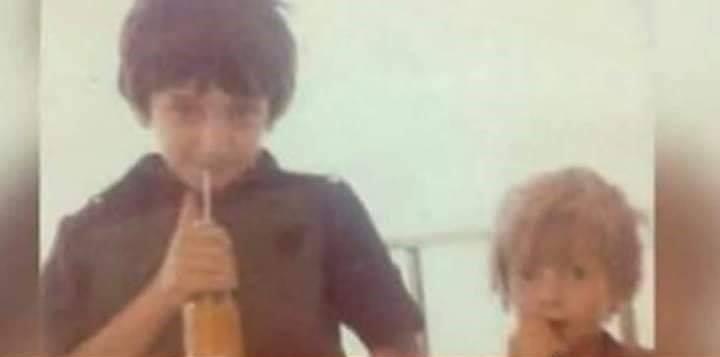 أحمد ومحمد الأحمد في طفولتهما