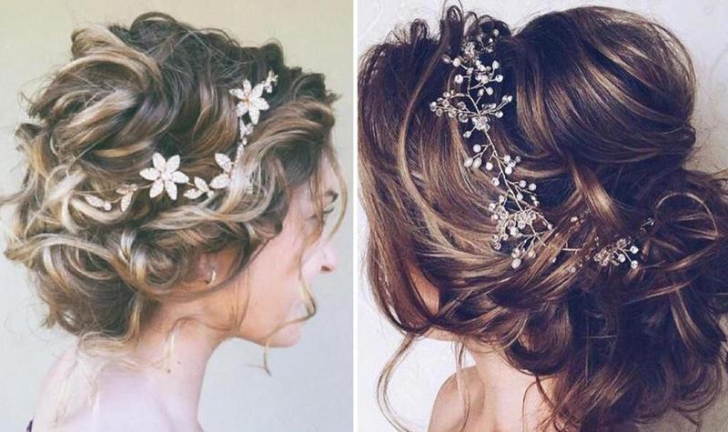 تسريحات شعر عروس ويفي