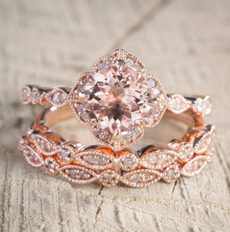 فستان الزفاف يحدد شكل الخاتم