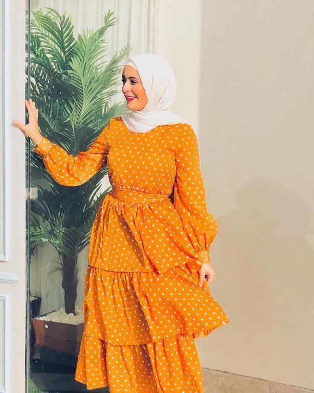 فستان بتصميم منقط