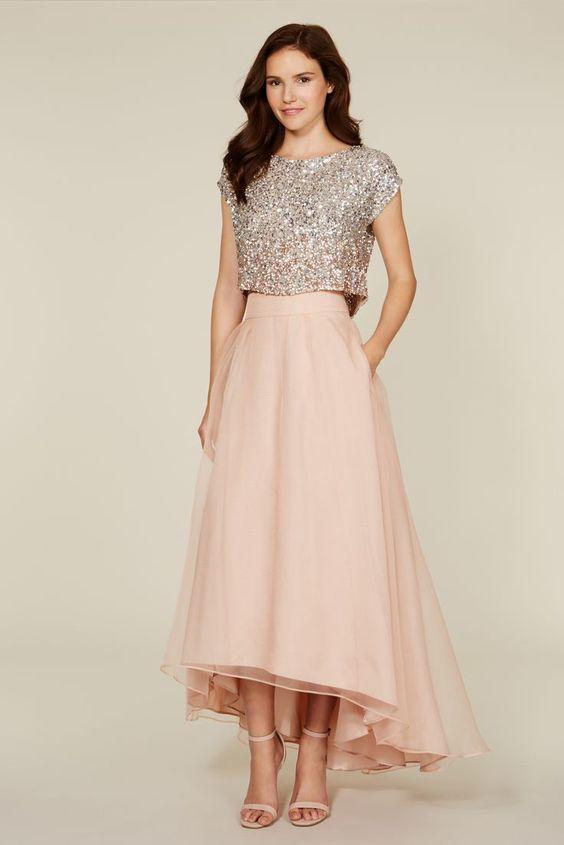 فستان سواريه من قطعتين