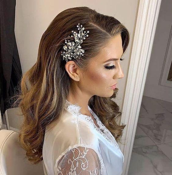 تسريحة شعر العروس