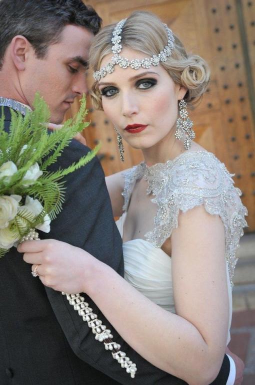 تسريحة الريترو للعروس