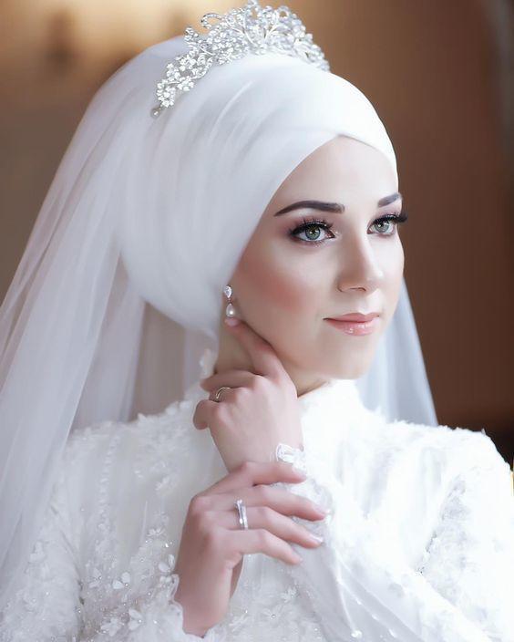 لفات طرح العروس المحجبة