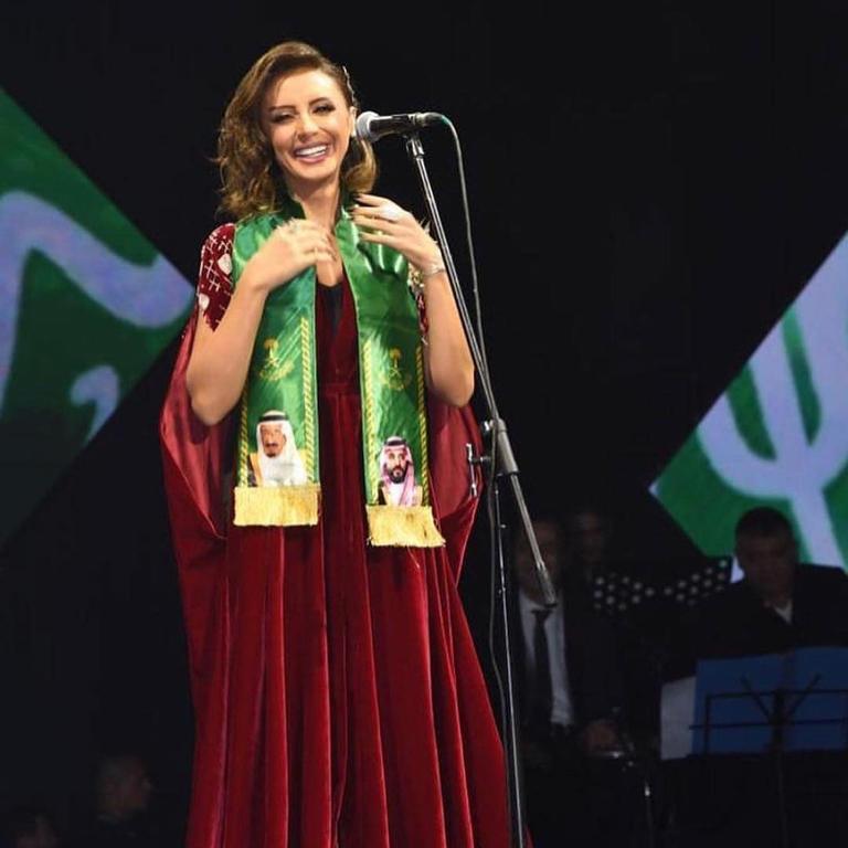 أنغام في احتفالات اليوم الوطني
