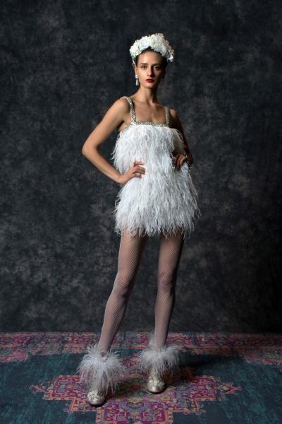 فستان قصير من نعيم خان