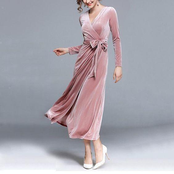 فستان القطيفة