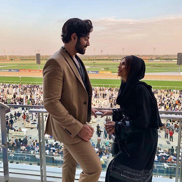 سارة المدني وزوجها