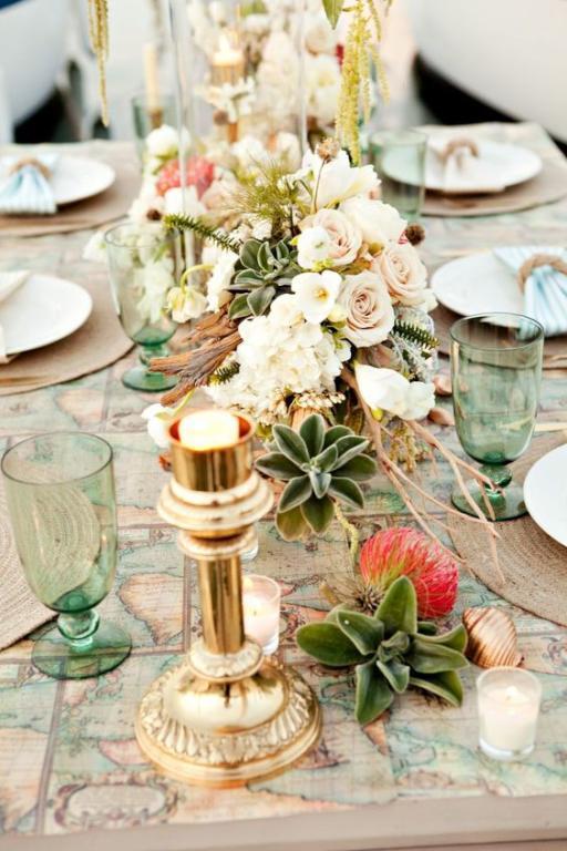 تزيين طاولات الزفاف