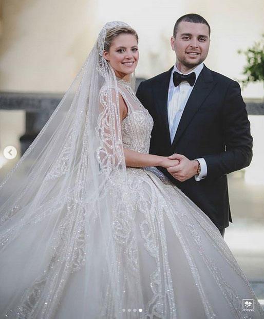 ايلي صعب وزوجته كريستينا مراد