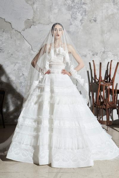 فساتين زفاف كشكش