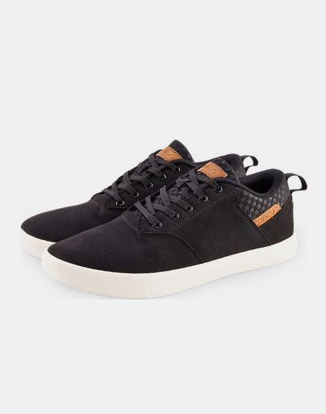 حذاء رياضي برباط باللون الأسود