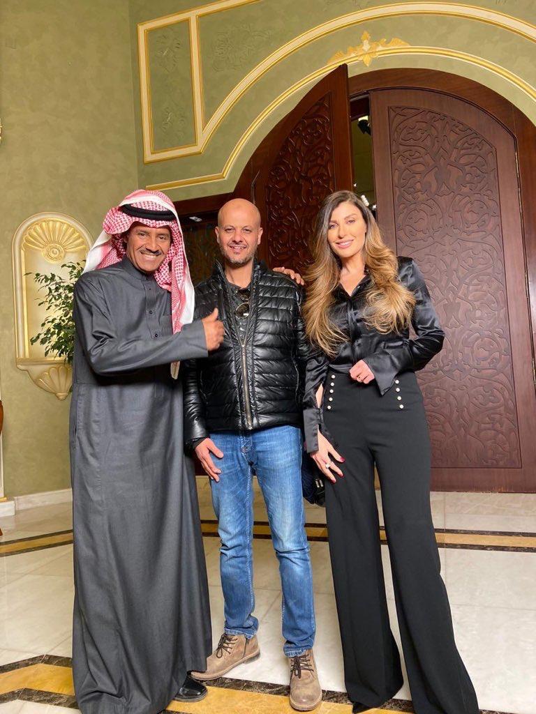 خالد عبد الرحمن مع المخرج وريتا حرب