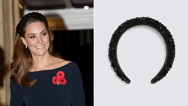 -Kate Middleton chooses the embroidered hair hoop