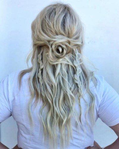 الشعر النصف المرفوع