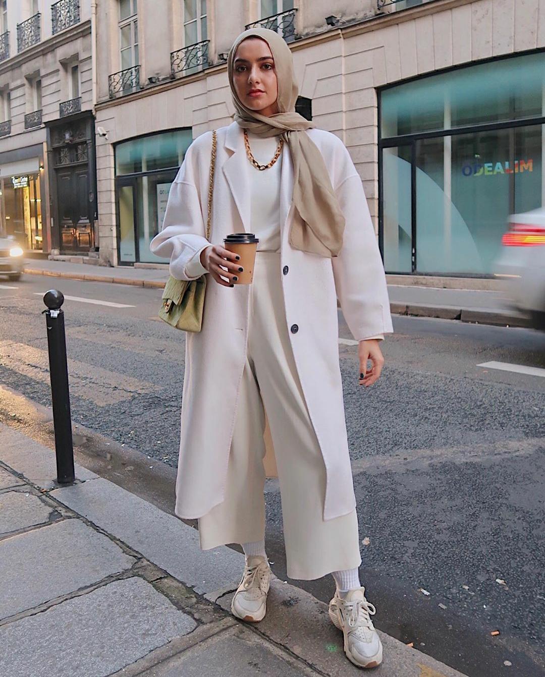 معطف أبيض Overzied