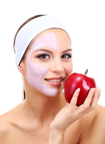 التفاح لتسمين الوجه