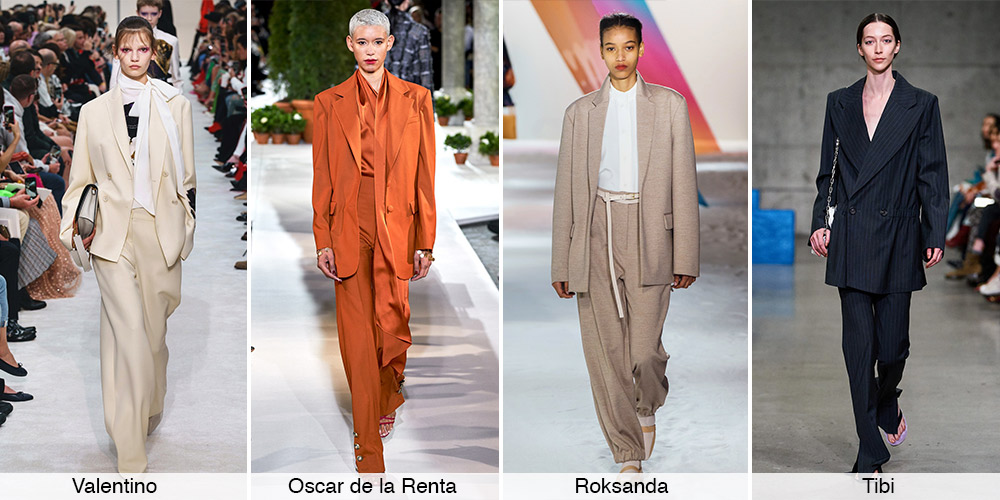 البدلات الواسعة Slouchy Suits