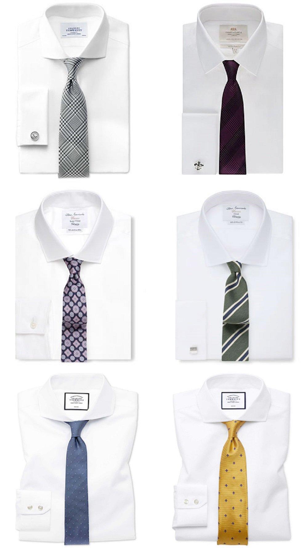 ربطات العنق والقميص الأبيض