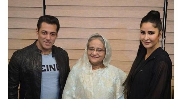 سلمان خان وكاترينا كيف برفقة رئيسة وزراء بنغلاديش