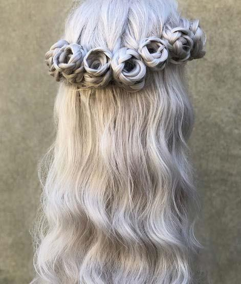 ضفائر الورود لطلة ضفولية