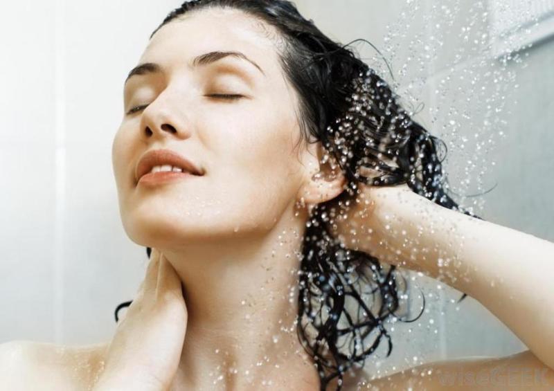 روتين غسل الشعر