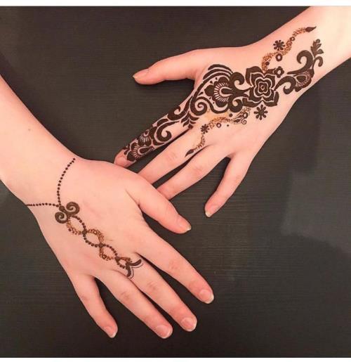 أجدد صور نقش حناء للعروس الخليجية من انستقرام مجلة سيدتي