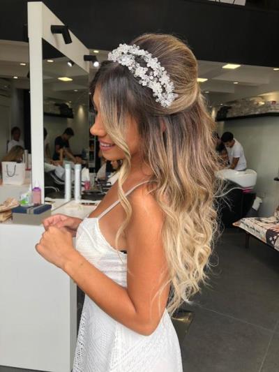 تسريحات شعر عروس2019