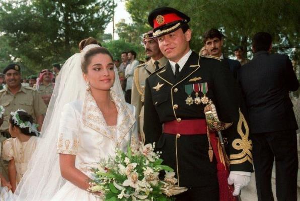 زفاف الملك عبدالله