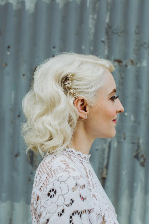 تسريحات شعر عروس قصير