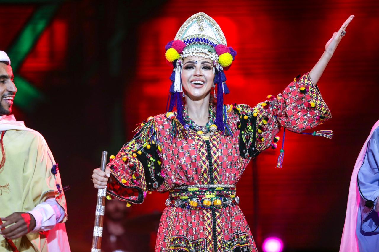 """ميريام فارس خلال حفلها في مهرجان """"الموازين"""""""