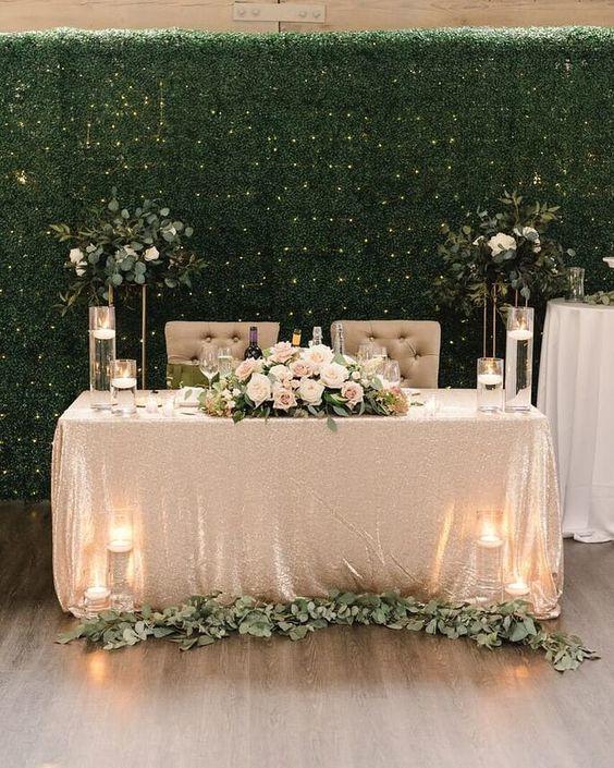 تزيين طاولة العروس بالشموع