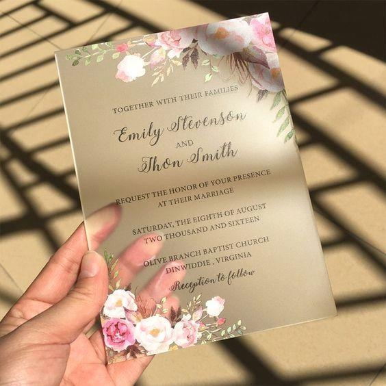 أشكال لبطاقات زفاف
