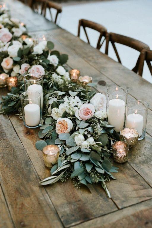 تزين طاولة الزفاف