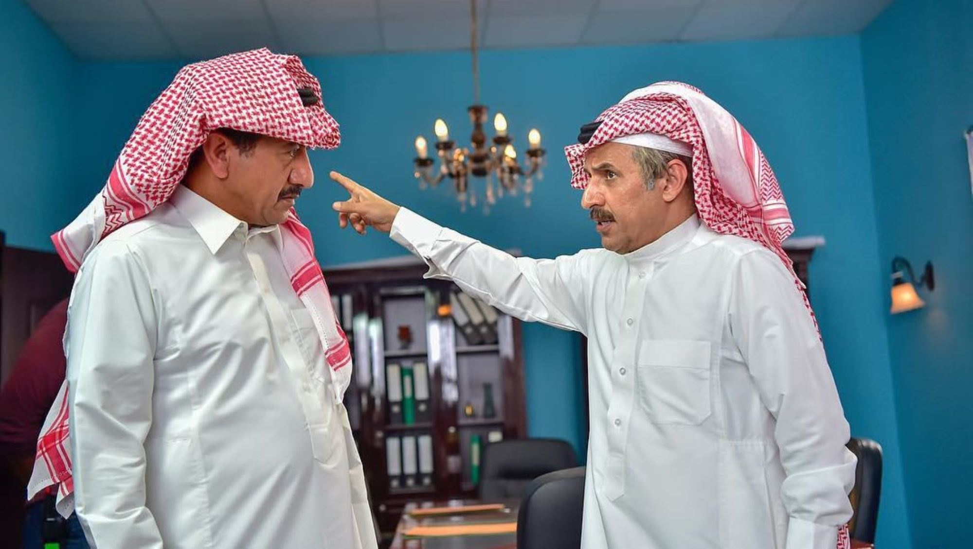عبدالإله السناني وناصر القصبي في مسلسل «العاصوف»