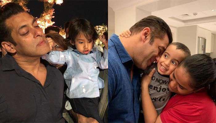 سلمان خان يلهو مع ابن شقيقته